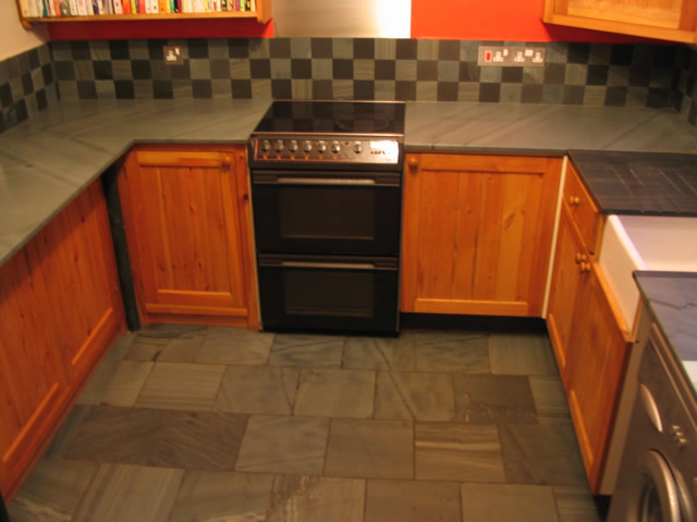 Kitchen Worktops And Flooring Saddleback Slate