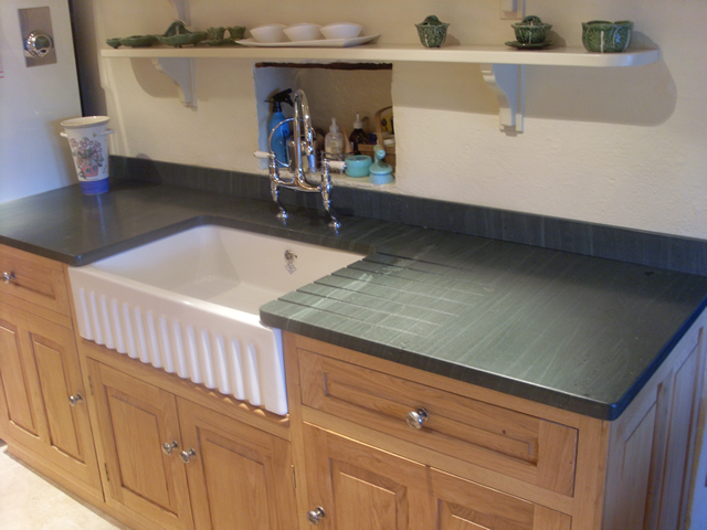 Slate Work Top And Belfast Sink Extension Utility Room