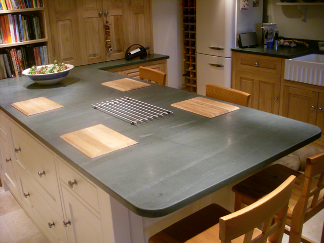 kitchen worktops and flooring saddleback slate. Black Bedroom Furniture Sets. Home Design Ideas